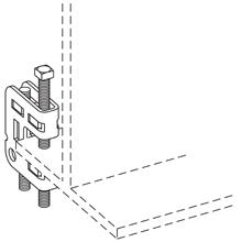 B-LINE B755-3/8-J12ZN BEAM CLAMP AS