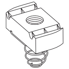 B-Line Series N521ZN 8-32 AWG Thread 1/4 Inch Nut Spring Nut