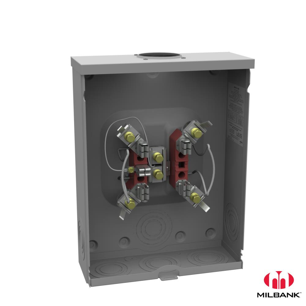 MLB U9101-RL-TG-KK *metered socket ringless 200 amp 5 terminal single phase with horn bypass and triplex ground over head or underground.