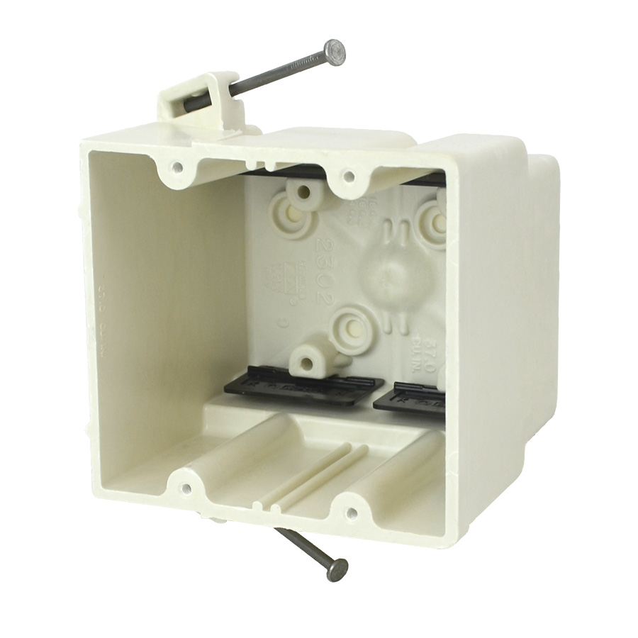 ALL 2302-NK 2GANG ANGLED MID-NAILS SPEED KLAMPS SWITCH AND OUTLET BOX
