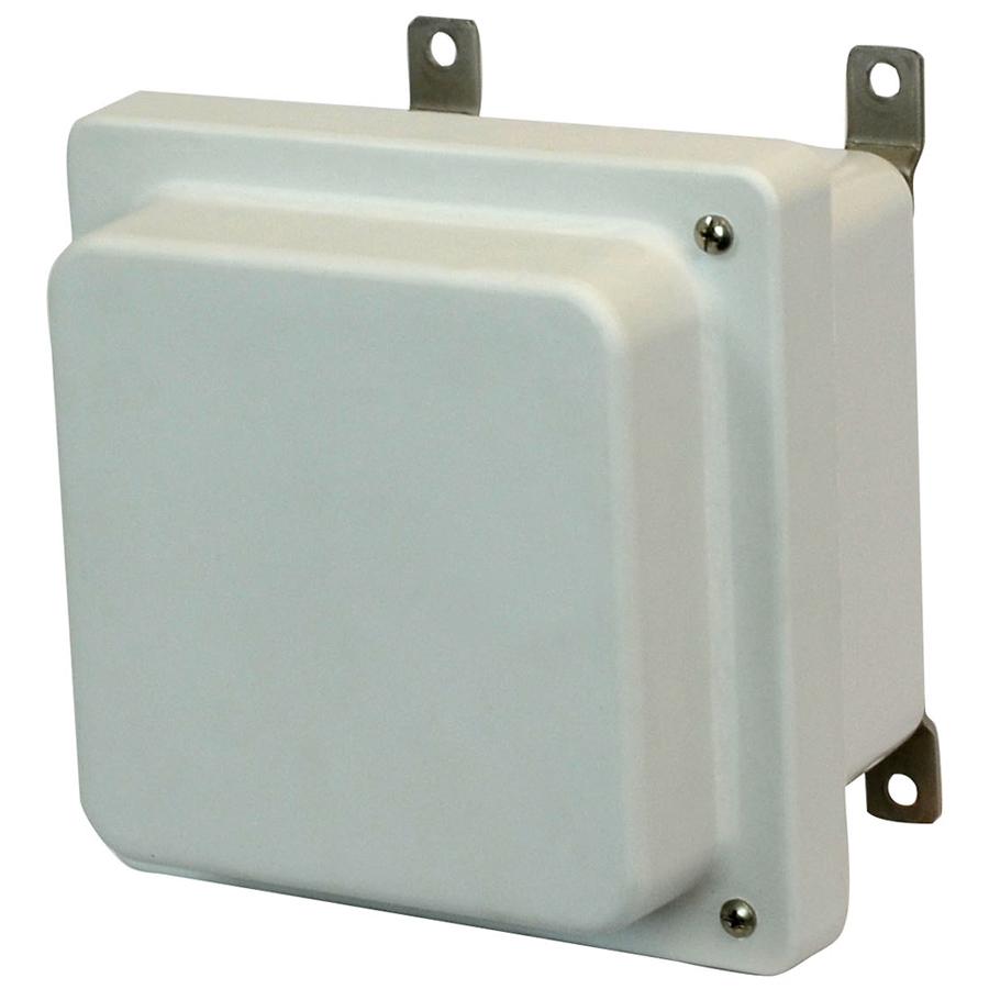 Allied Moulded Products,AM664RH,6X6X4 ENCLOSURE RAISED HINGED SCR CVR
