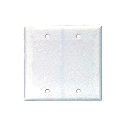 Cooper Wiring Devices,2137W-BOX,Cooper Wiring Arrow Hart 2137W-BOX Standard Blank Wall Plate, 2 Gangs, 4.5 in H x 4.56 in W, Plastic, White