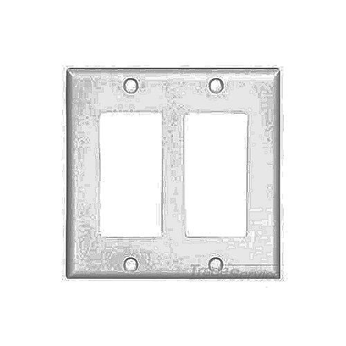 Cooper Wiring Devices,2152W-BOX,Cooper Wiring Arrow Hart 2152W-BOX Standard Wallplate, 2 Gangs, 4.5 in H x 4.56 in W, Thermoset, White