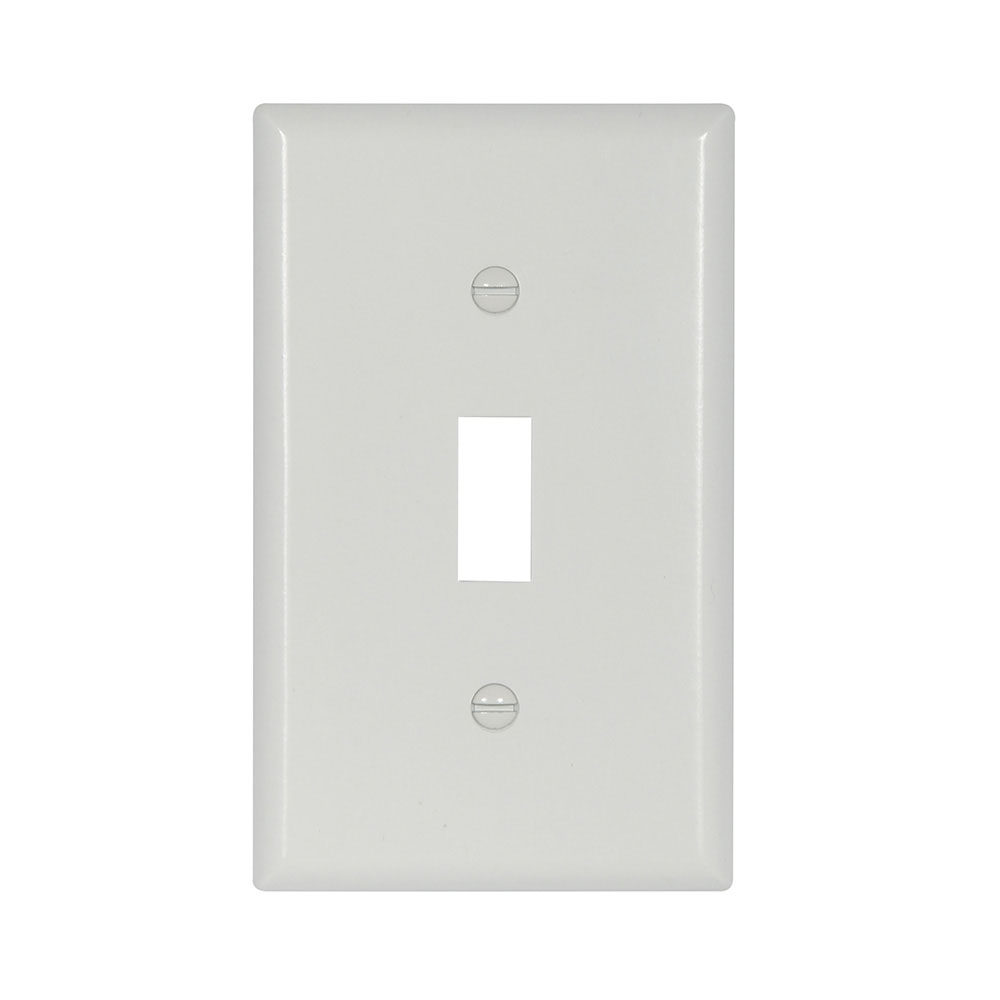 Cooper Wiring Devices,2134W-BOX,Cooper Wiring Arrow Hart 2134W Standard Wallplate, 1 Gang, 4-1/2 in H x 2-3/4 in W, Thermoset, White