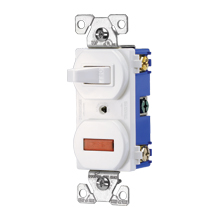 Cooper Wiring Devices,294V-BOX,Cooper Wiring Arrow Hart 294V-BOX 3-Way Toggle Combination Switch, 15 A 120 VAC