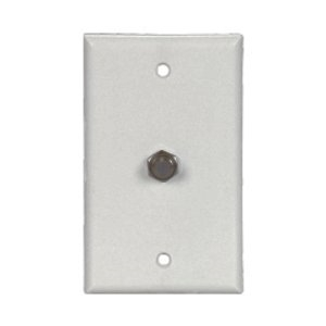 Cooper Wiring Devices,1172W,Cooper Wiring MediaSync™ 1172W Standard Wallplate, 1 Gang, 4-1/2 in H x 2-3/4 in W, Thermoplastic, White
