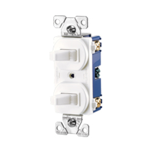 Cooper Wiring Devices,276W-BOX,Cooper Wiring Arrow Hart 276W-BOX 3-Way Toggle Combination Switch, 15 A 120/277 VAC