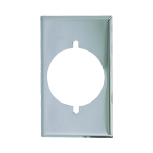 Cooper Wiring Devices,68-BOX,Cooper Wiring Arrow Hart 68-BOX Standard Wallplate, 2 Gangs, 4.5 in H x 4.56 in W, Chrome, Silver