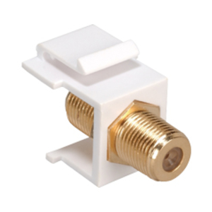 Cooper Wiring Devices,5552-5EW,Adaptor  F  Series Coax Insert WH