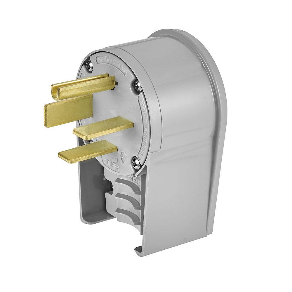 AH 8452AN Plug Angle 50A 250V 3P 4W Straight - GY cs=10