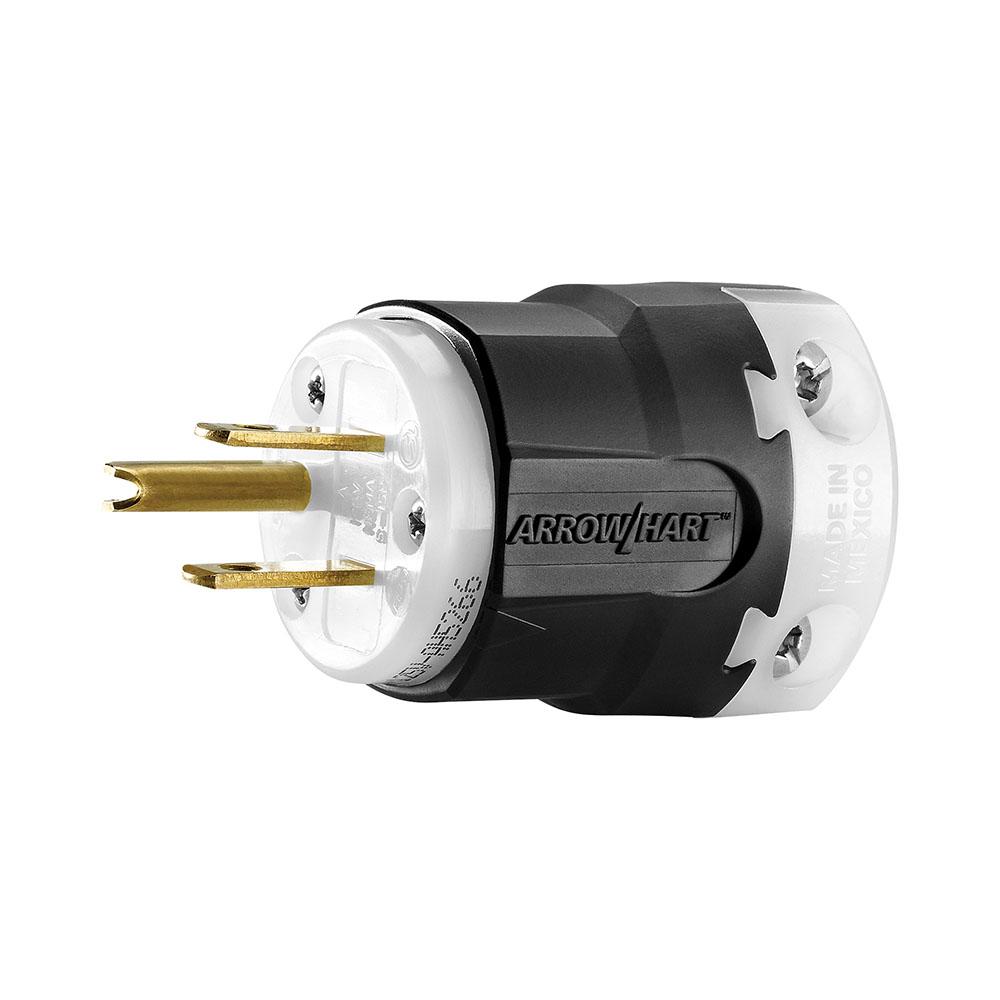 AH AH5266 Plug 15A 125V 2P3W Str BW NEMA5-15 cs=10