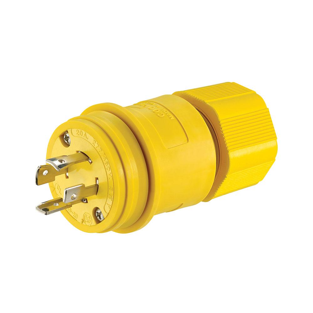 Eaton,L1920PW,Plug WT 20A 277/480V 3PH 4P4W H/L YL