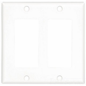 Cooper Industries 2152W-BOX Wallplate 2G Decorator Thermoset Std Wh