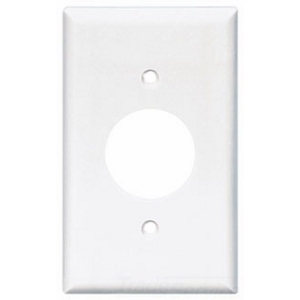 Cooper Industries 2131W-BOX Wallplate 1G Single Recp Thrmst Std Wh
