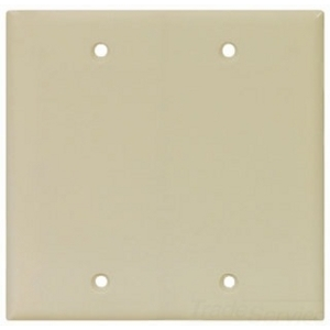Cooper Industries 2137V-BOX Wallplate 2G Blank Thrmst Box Mt Std Iv