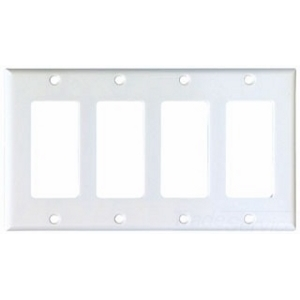Cooper Industries 2164W-BOX Wallplate 4G Decorator Thermoset Std Wh