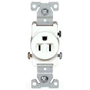 cooper industries 817w box cooper wiring devices grounding single receptacle white wiring