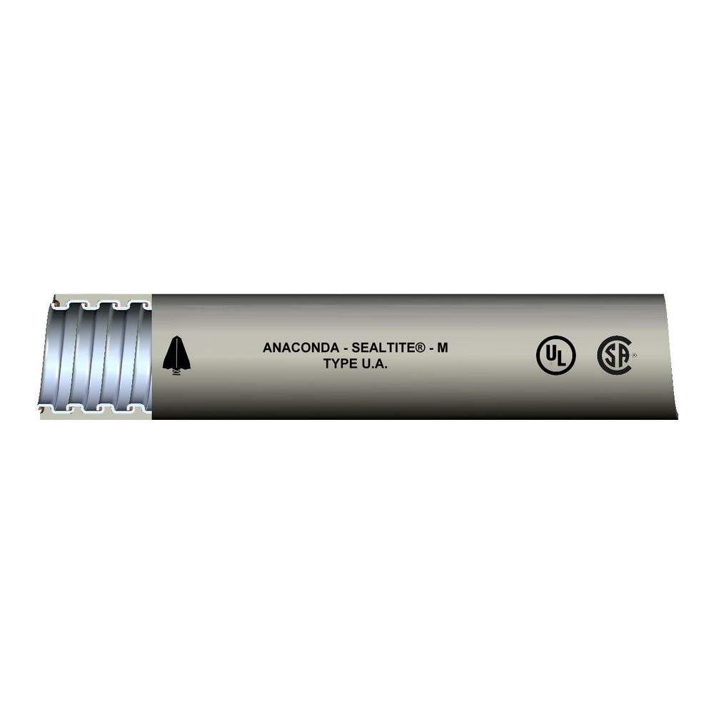 Liquid Tite Conduit,SEF-UA-GRY-3/4-100FT L/T,SEF-UA-GRY-3/4-100FT L/T Flexible Conduit, Material: PVC, Color: Gray