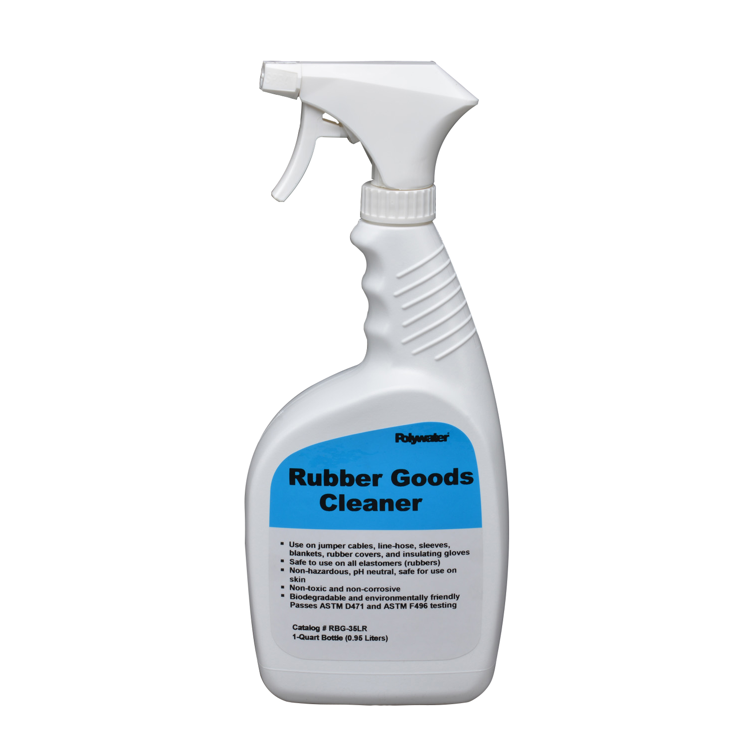 American Polywater RBG-35LR 1 Quart Bottle with Spray Rubber Goods Cleaner
