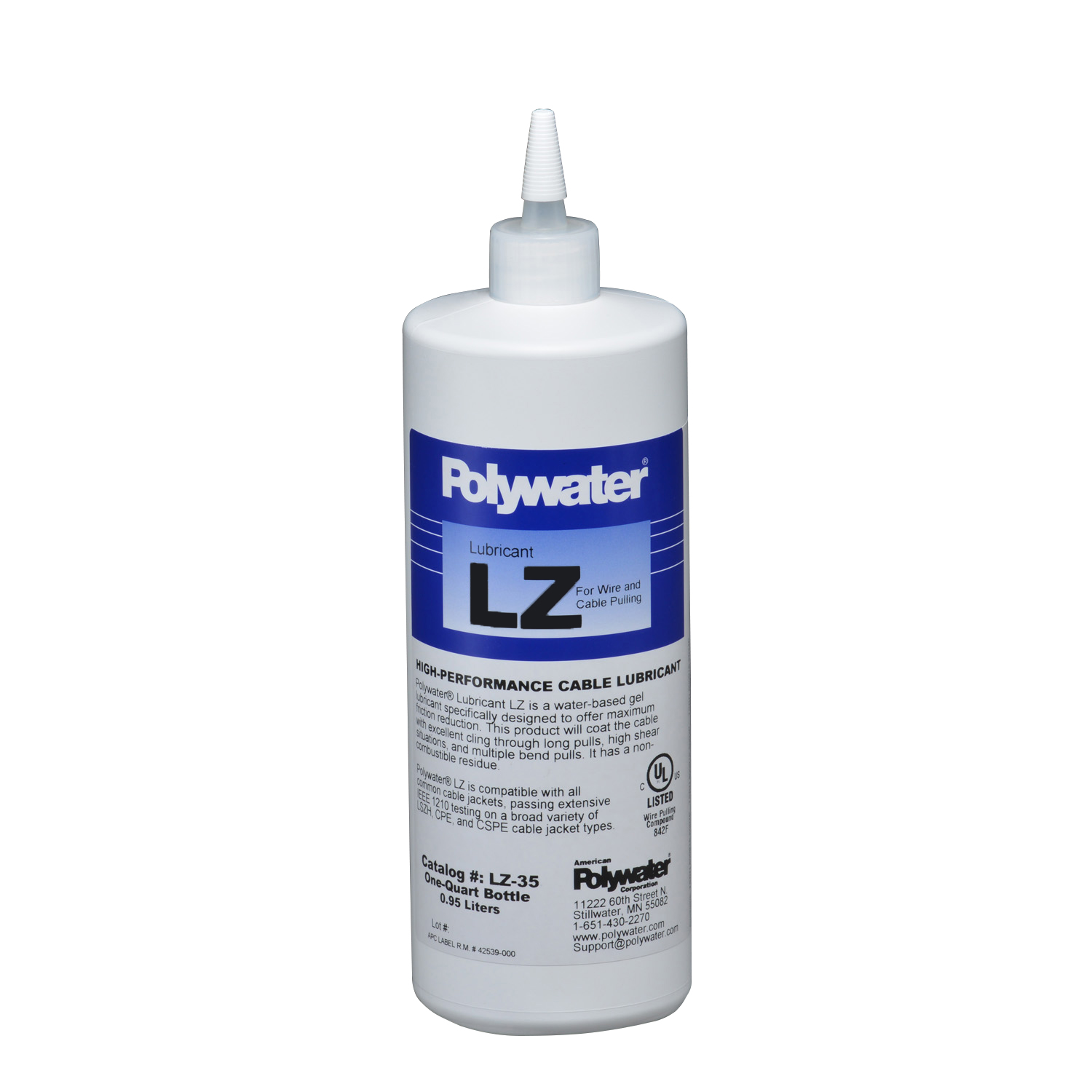 American Polywater,LZ-35,Qt Sqz Bottle Polywater� Lubricant LZ