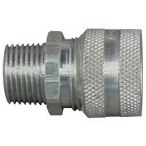 Appleton CG-3138 3/8 in. Aluminum Liquid Tight Strain Relief Cord and Cable Connector; Straight,