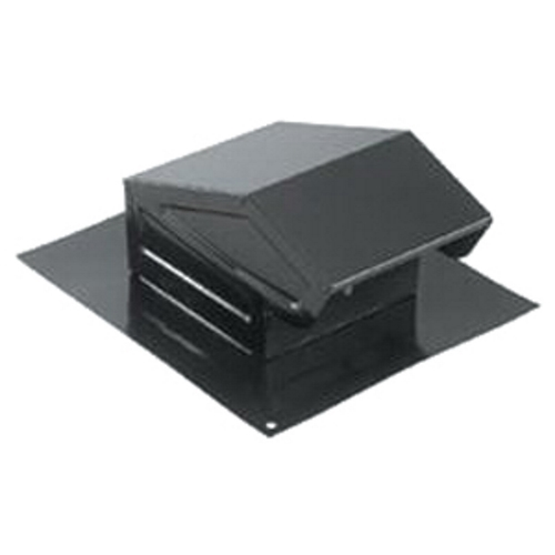 BRO 636 Roof Cap,Broan,4-3/8 INHT,10-1/4 IN W,11 IN LEN,24 GA,CRCQSTL,BLK Color