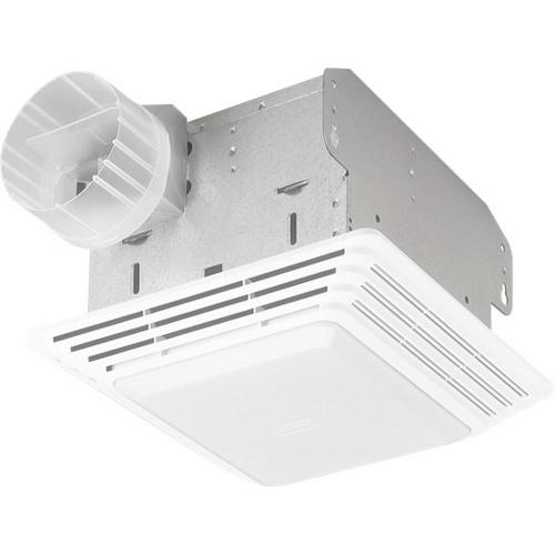 BROAN 678 Fan/Light, White Plastic Grille, 50 CFM.