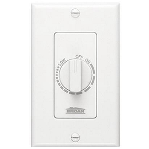 72W NUTONE ELECTRONIC VARIABLE SPEED CONTROL 6A 120V WHITE