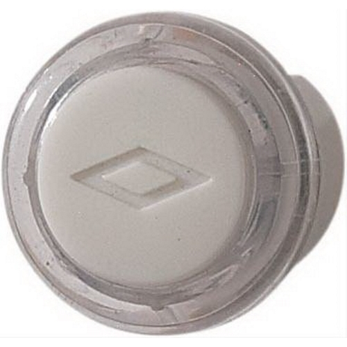 Nutone PB18LWHCL Wired Pushbutton Clear with White Cap Lighted 206927