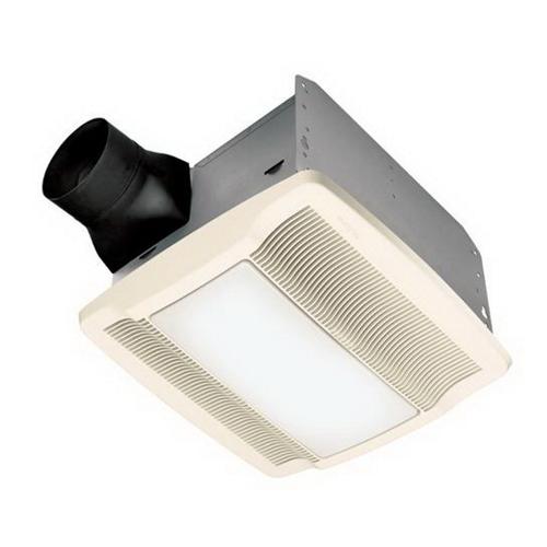 Nutone QTRN080L Ultra Silent Bath Fan w/ Light and Night Light100W Incandescent Lighting 4W Night Light 80 CFM