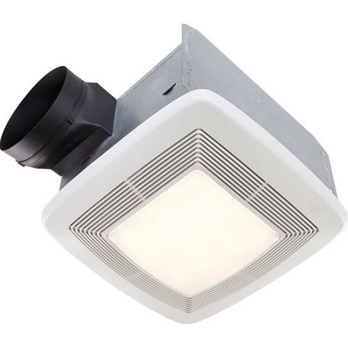 Exhaust Fan/Light/Night Light,Broan,QTXE Series,110 CFM,1 AMP,CEIL