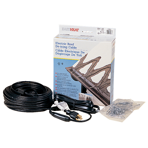 EZH ADKS-500 100' PLUG-IN DE-ICE KIT 120V 500W (CRG-100) ROOF & GUTTER CABLE