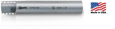 Sealtite Non-Metallic,E-FLEX NM11-GRY-1/2-100FT L/T,E-FLEX NM11-GRY-1/2-100FT L/T Flexible Conduit, Trade Size: 1/2 IN, 0.840 IN O.D., Material: PVC, Color: Gray