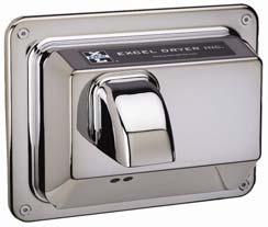 Excel Dryer,R76-IC,R76IC CHROME 110/120V REC