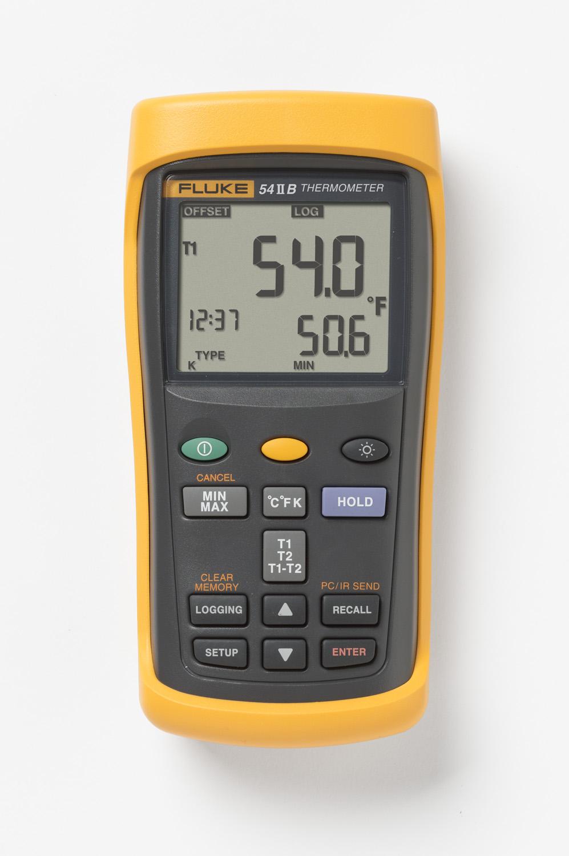 Fluke,FLUKE-54-2 B 60HZ,DUAL INPUT THERMOMETER W/ USB RECORDING, 60HZ NOISE REJECTION