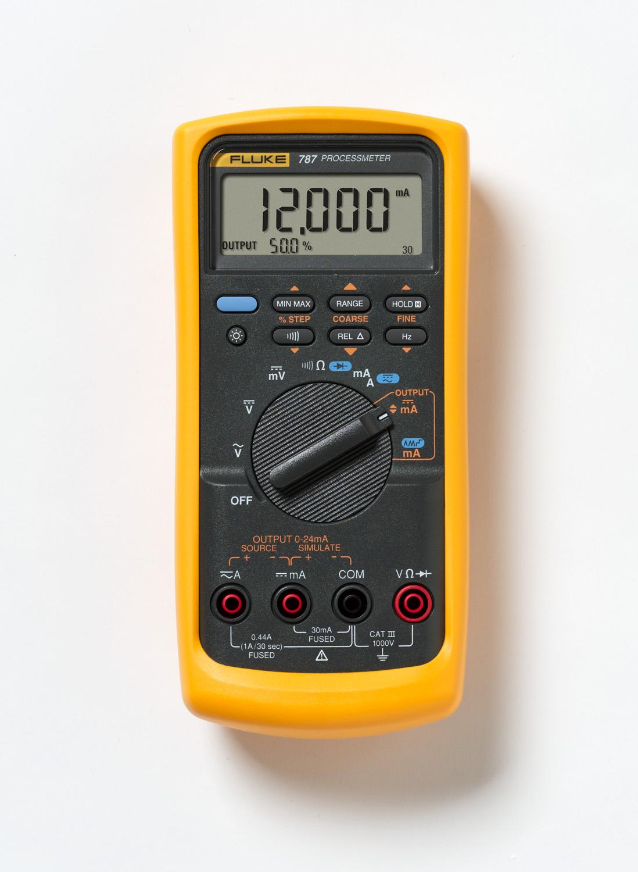 Fluke,FLUKE-787,Fluke® ProcessMeter™ FLUKE-787 Digital Multimeter, 1000 VDC/VAC, 1 A, 40 MOhm, 1000 VAC/VDC, 1 A, 40 MOhm