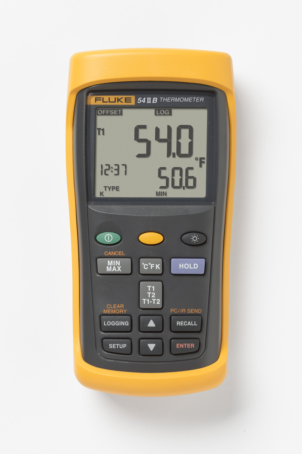 Fluke,FLUKE-54-2 B 60HZ,DUAL INPUT THERMOMETER W/ USB RECORDING, 60HZ NOISE REJECTION
