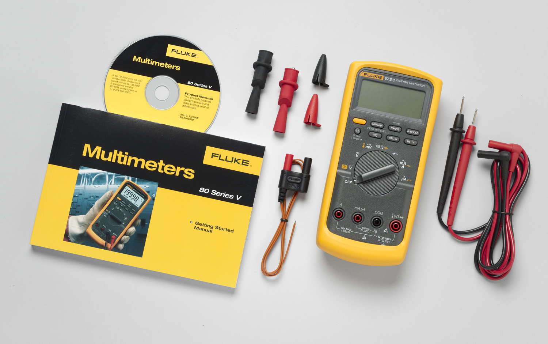 Fluke,FLUKE-87-5/E2-KIT,Fluke® 80 Industrial Electrician Combo Kit, 20000 Display Count, 4.5 Display Digits