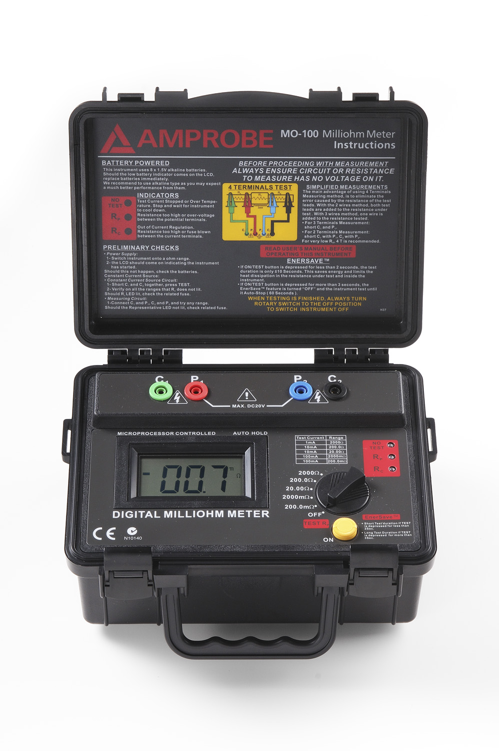 MILLIOHMMETER BATTERY POWERED