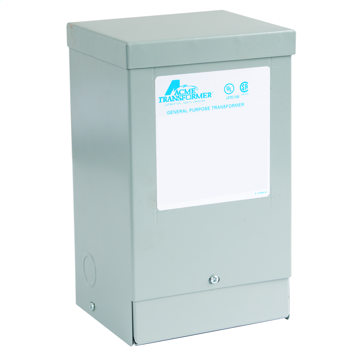 Actuant T181052 1 Phase 60 Hz 120 x 240 Volt Input 12-24 Volt Output Lighting Transformer