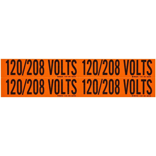 Brady 44259 BRADS 120/208 VOLTS COND MRKR