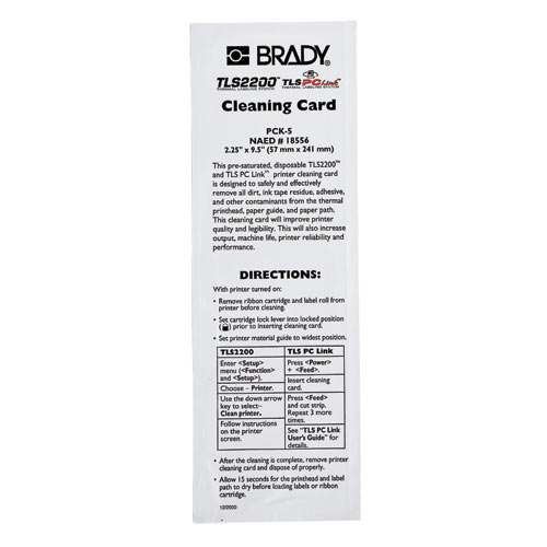Brady,PCK-5,TLS/HANDIMARK CLEANING KIT 5-PACK