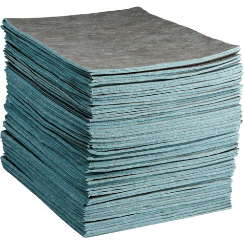 SPC® Re-Form® RFDP300 Medium Weight Perforated Absorbent Pad, 19 in L x 15 in W x 2-Ply THK, 32 gal Absorption Capacity, Cellulose
