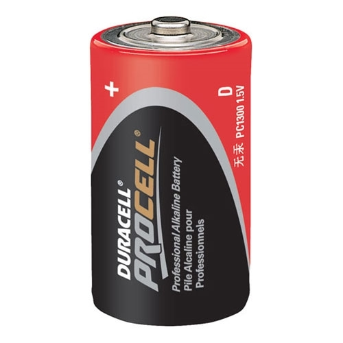 Duracell,PC1300,Duracell® PC1300 Cylindrical Battery, Alkaline-Manganese Dioxide, 1.5 VDC, 1200 mAh, D
