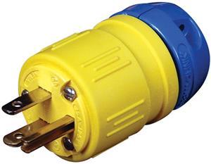 Ericson,1510-P,Perma-Link 1510-P Straight Blade Plug, 125 VAC, 15 A, 2 Poles, 3 Wires, Yellow