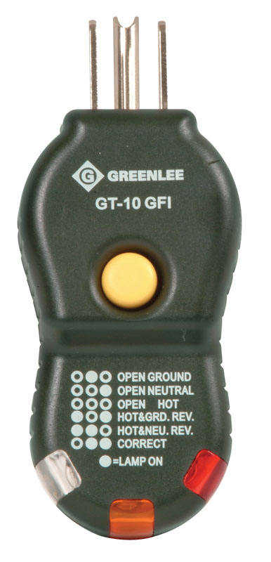 Greenlee,GT-10GFI,Greenlee® GT-10GFI Circuit Tester