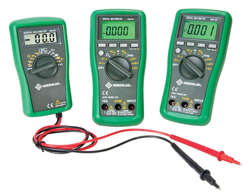 GREDM25 GRN DM-25 600VAC/DC MULTIMETER;Greenlee® DM-25 Manual Ranging Digital Multimeter, 600 VAC/VDC, 200 to 2000 kOhm Measuring, 200/2000 Ohm, 20/200/2000 kOhm, Digital Display