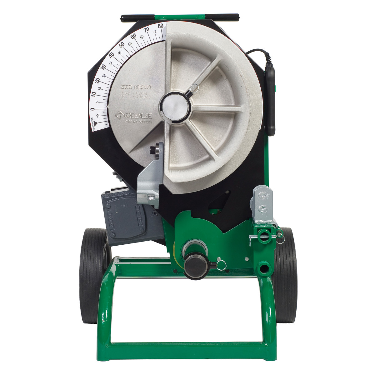 GRE555CXRS ELECTRIC BENDER CX W/SINGLE RIGID SHOES;Greenlee® 555CXRS Electric Bender With Single Rigid Shoes, 1/2 to 2 in Rigid Capacity, Tool Only