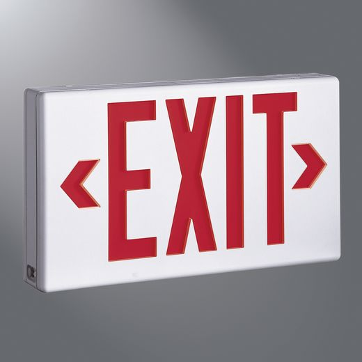 Cooper IRiS,LPX6-G,Sure-Lites® LPX6 Universal Exit Sign, LED Lamp, 120/277 VAC, White Housing, EXIT Legend