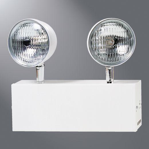 Cooper Sure-Lites,XR6C,CHI EM (2) 12W HALOGEN LAMPS, WH
